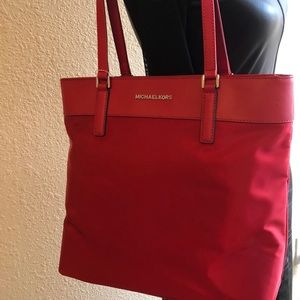 Michael Kors Large Red Tote New With Tags